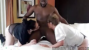 Big Dicked Texan Brings the Meat to a Thick Girl Threesome feat