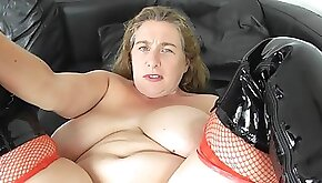 Young amateur Girl and old chubby Granny mastubate