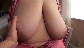 Japanese guy has fun with a giant jug hooded bbw