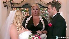 Curvy BBW bride Samantha My Big Plump Wedding spanking cum in mouth