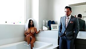 Big dick for the fat ass MILF on her wedding day