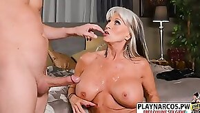 Cougar mommy sally d angello wants to nail hard young step son