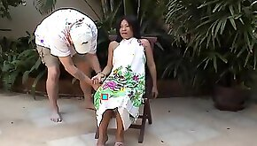 A master ties up his Asian slave gags her and tortures her