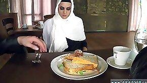 Terrorist arab Woman Gets Food and Shag