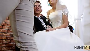 They just married and he sells his wife to be fucked for money