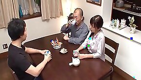 Rough clothed sex with a hot Japanese school girl dick