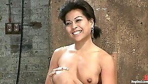 Hot Asian Milf Gets Suspended Suffers Weight On Her Hiuge Nipples And Is Made To Cum Over And Over HogTied