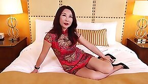 Chinese single mom gets hot and naughty with young white