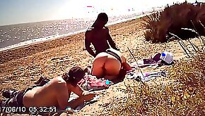 Pawg with black hard cock on the beach chubby babe