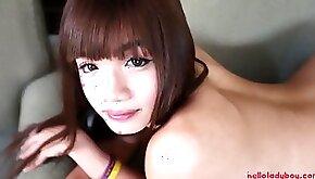 HELLOLADYBOY Taut Backside Chinese Woman Dude Guzzles Ginormous Fuckpole