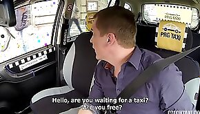 Freaky taxi driver gets fuck sexy Czech passenger