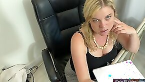 Orally obsessed secretary sucks the boss