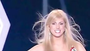 Accidental up skirt video of blonde model in beauty contest