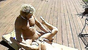 Married couple bang near pool