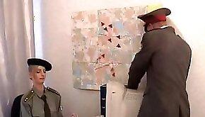 Military officers fucks sexy secretary on her desk