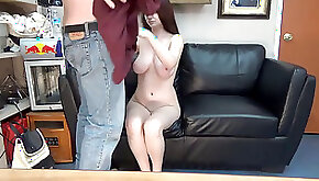 Emma UCSD student does anal audition couch interview massive boob brunette GlassDeskProductions