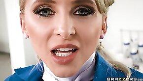 Unbridled Blonde Cougar Licks Big Appetizing Penis