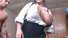 Fat brunette Indianna Jaymes is a slutty teacher
