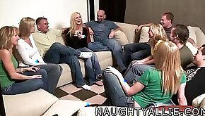 Party game leads to giant non professional fuckfest