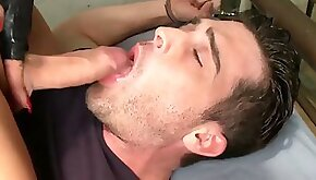 Lovely shemale pounds a guys asshole and he swallows cum