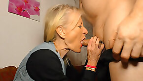 German granny Margit S. has an affair with her old neighbor