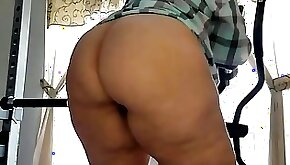 BBW Mexican with booty working out in the gym latinaxxxheat