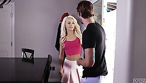 Elsa Jean is a petite teen babe craving to feel a monster cock in her hole