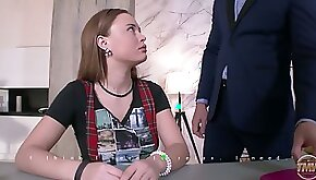 Lewd tutor teases a bit dull student Shakila Asti with a nice fingerfuck