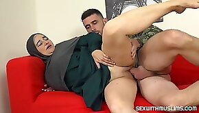 Muslim milf pays for service with her body