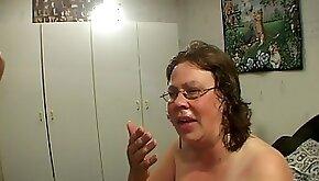 Natural tits mature maiden getting deepthroat smashing