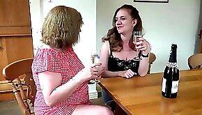 Older big boobed shaved grannies have fun together
