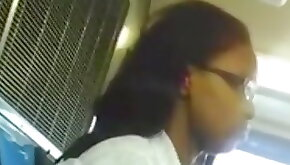 Cum infront of PYT ebony on da bus