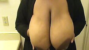 Fondling a Single Big Black Tits