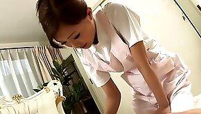 Sexy Nurse jerks cock as a treatment