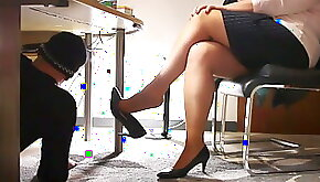 Technician visit the office with horny surprice